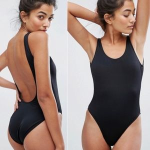 New Look 🖤Black🖤 High Leg One Piece Swimsuit NWT